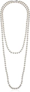 Cream Colored Simulated Pearl Strand Necklace (8mm)