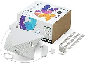 Nanoleaf Rhythm Edition Smarter kit - Modular LED lights expansion- home decor Touch, Voice, Rythm and Application sensiti...