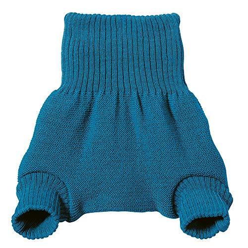 Cobertura para pañal Disana de lana merino orgánica con forma de pantalón azul Talla:62/68