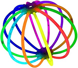 """Bulk Party Favors 100pk - 8"""" Glow in the Dark Party Supplies Light Sticks, Halloween Decorations, Glow Necklaces and Bracelets for Kids"""