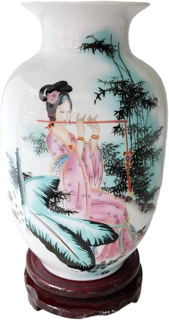 Chinese White Ceramic Vase Home Decorative Porcelain 在庫あり 格安激安 Beauty with