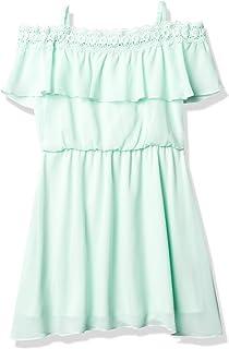 فستان Amy Byer للفتيات بدون أكتاف من الدانتيل