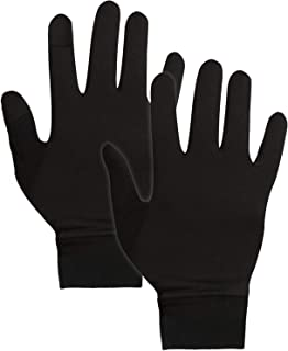 IGN1TE Running Gloves for Men & Women - Thermal Winter Glove Liners for Cycling & Driving - Thin,  Lightweight & Warm Sports Black Hand Gloves for Cool Weather - 90% Nylon 10% Spandex Reinforced Blend