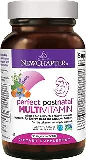 New Chapter Postnatal Vitamins, Lactation Supplement with Fermented Probiotics + Wholefoods + Vitamin D3 + B Vitamins + Organic Non-GMO Ingredients - 96 ct