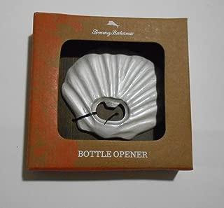 Tommy Bahama Bottle Opener, Clam shape, White iridiscent