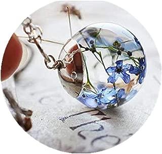 No Me Olvides collar, joyería para ella, Real flores joyas, Regalo para el día de la madre