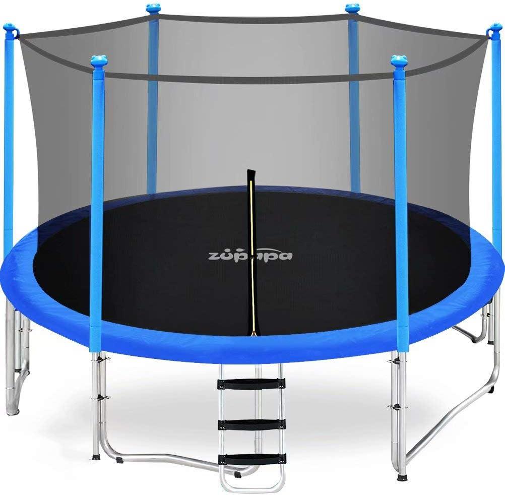 Zupapa 15FT free 14FT Super-cheap 12FT 10FT 8FT Cap 425LBS Weight Trampoline Kids