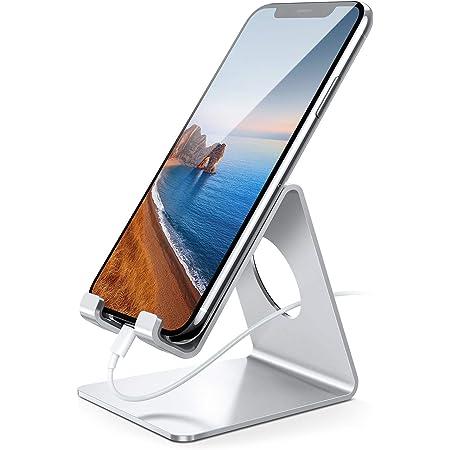 Handy Ständer, Lamicall Handy Halterung - Handyhalterung, Halter für iPhone 12 Mini, 12 Pro Max, 11 Pro, Xs Max, XR, X, 8, 7, 6S Plus, SE, Samsung S10 S9 S8, Huawei, Schreibtisch, Smartphone - Silber