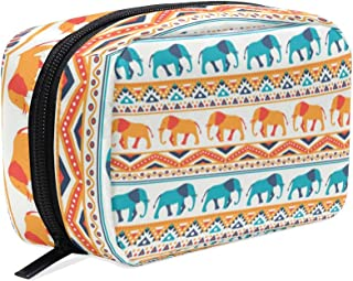 Tribal Ethnic Elephant Makeup Bag Travel Cosmetic Bag Train Case for Women