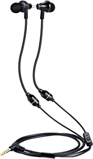 KINDEN Air Tube Headsets - Anti-Drop Radiation Free Headphones Earbuds Binaural Earphone with Microphone, EMF Protection, 3.5mm Jack for Cell Phones PC MP3 Pad (Black)