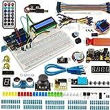 Proyectos Kit de Inicio Kit de Elementos electrónicos Super Starter Circuit Breadborad Kit Compatible con Arduino