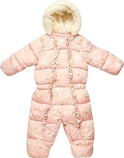 Baby Girls Snowsuit Pram with Polar Fleece Lining (Newborn/Infant)