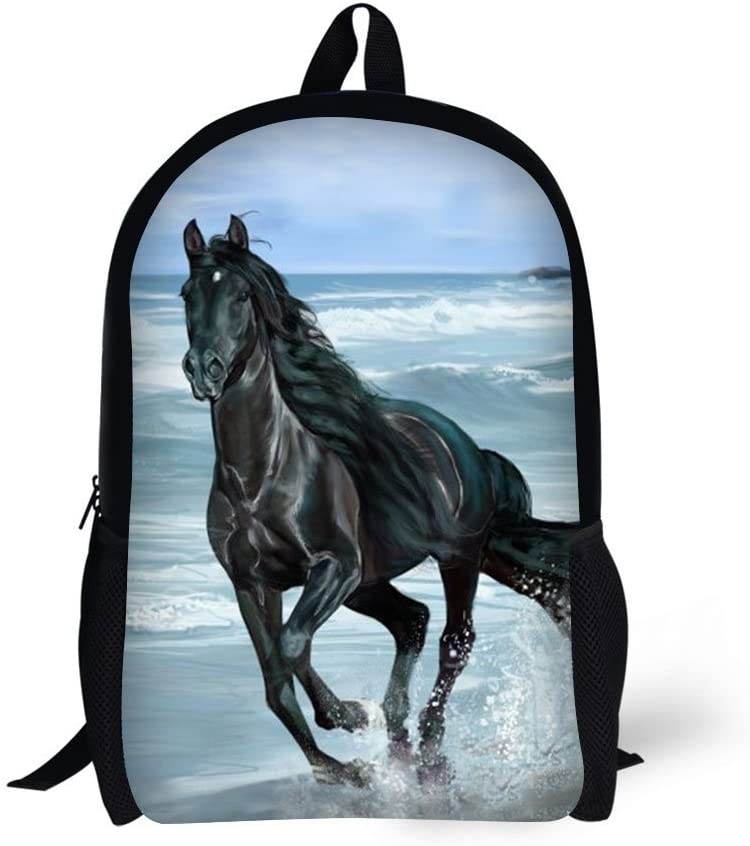 Primary Great interest Backpack 3D Horse Pattern Book Bag All stores are sold Girls Boys for