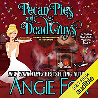 Pecan Pies and Dead Guys                   Written by:                                                                                                                                 Angie Fox                               Narrated by:                                                                                                                                 Tavia Gilbert                      Length: 9 hrs and 6 mins     2 ratings     Overall 5.0
