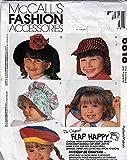 McCall's 6818 Sewing Pattern Flap Happy Hats Sun Bonnet Baseball Cap Beret S,m,l,