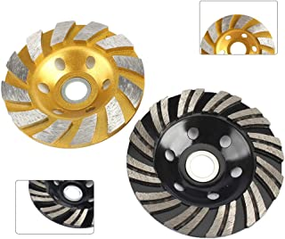 2Pcs 4inch Diamond Grinding Cup Wheel Double Row and Single Row Concrete Grinding Wheel Disc Mix Set for Angle Grinder for Granite, Stone, Marble, Masonry, Concrete