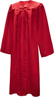 Unisex Adult Choir Robe Matte Finish Graduation Gown Only 12 Colors Halloween Costume RGB Judge