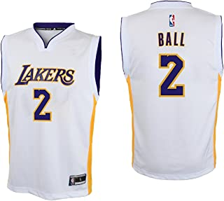 Lonzo Ball Los Angeles Lakers #2 White Youth Alternate Replica Jersey Large 14/16