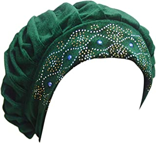 DOLDOA Hut Damen Sommer,Frauen-Ineinander greifen-Langer Schlauch-Turban-Kappen-moslemischer Inder-Verpackungs-Kopf-Hut
