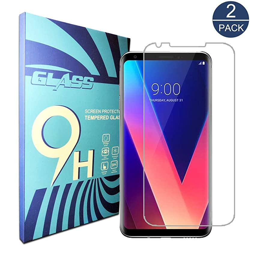 for V30 Screen Protector,V30 Tempered Glass Screen Protector,[2-Pack][Full Coverage] [9H Hardness][Easy Bubble-Free Installation][Anti-Scratch] Compatible with LG V30