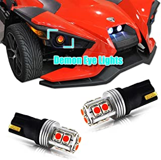 GTINTHEBOX 2PCS CAN-bus Error Free Brilliant Red High Power 10-SMD-3030 LED Demon Devil Eye Accent Lights Replacement Bulbs For Polaris Slingshot