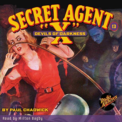 Secret Agent X #13: Devils of Darkness audiobook cover art
