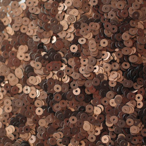 3mm FLAT SEQUINS ~ Premium BRONZE SILK FROST MATTE ~ Loose paillette sequins for embroidery, applique, arts, crafts, bridal wear and embellishment. Made in USA
