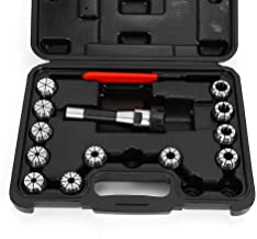 Collet Set, 12pcs Precision ER32 Spring Collet Set Collet Chuck Holder R8 Shank Spanner Clamping + Wrench + Storage Box for CNC Milling Lathe Tool (US STOCK)