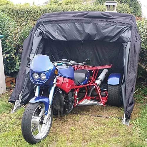 JTYX Refugio para Motocicletas de Gran tamaño, Tienda de Garaje para Motocicletas con 600D Oxford Cubierta Impermeable para Motocicletas