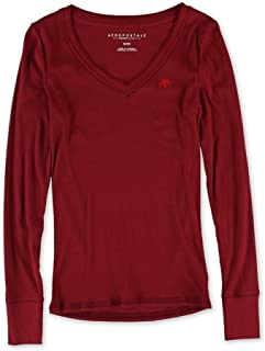 Aeropostale Womens A87 V Neck Embellished T-Shirt