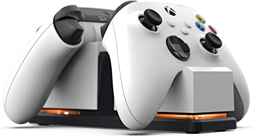 PowerA Dual Charging Station for Xbox - White, Wireless Controller Charging, Charge, Rechargeable Battery, Xbox Serie...