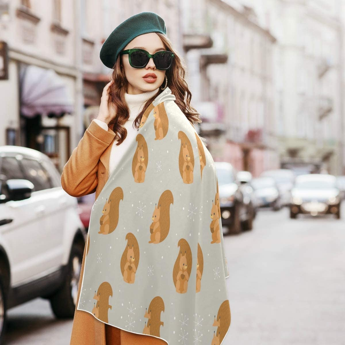 Scarf for Women and Men Winter Foxs Wallpaper Blanket Shawl Scarf wraps Soft Thick Winter Large Scarves Lightweight