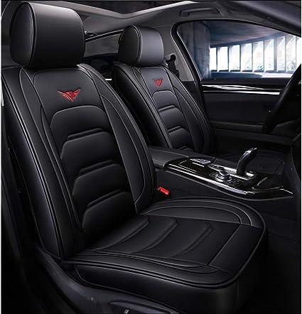 Yunchu Auto Sitzbezüge Schwarz Autositzbezug Vollen Satz Wasserdicht Pu Leder For Audi A3 A4 A5 A6 A8 Q3 Q5 Rs4 Größe Standard Garten