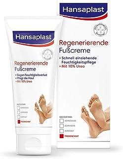 Hansaplast Regenerierende Fußcreme 100 ml, Fußpflege mit Urea für trockene und raue Füße, Feuchtigkeitscreme für die Füße schützt vor Hornhautbildung