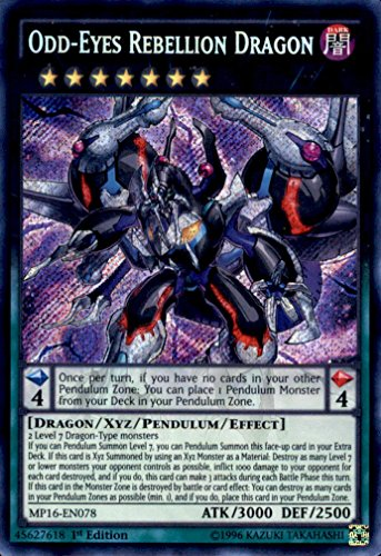 YU-GI-OH! - Odd-Eyes Rebellion Dragon (MP16-EN078) - Mega Pack 2016 - 1st Edition - Secret Rare