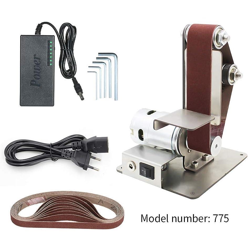 見て基本的な印象的DIY電気ミニベルトサンダー固定角度削りテーブルエッジマシンアングルグラインダーにベルトサンダー木材金属作業、775