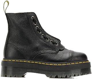 Luxury Fashion   Dr. Martens Women 22564001 Black Leather Ankle Boots   Season Permanent