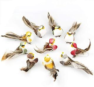 Yolococa Petits Oiseaux Artificiels en Plumes avec Pinces Sapin de Noël Décoration Ornements d'oiseaux (Lot de 12)