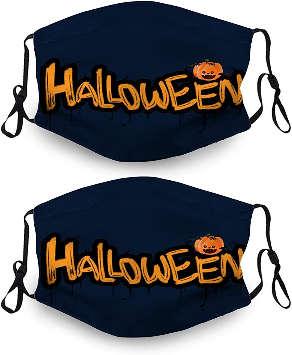 Halloween Ma-Sk Washable Dust Mask Reusable 5 ☆ very popular 4 Sets 2 Filter with Max 61% OFF