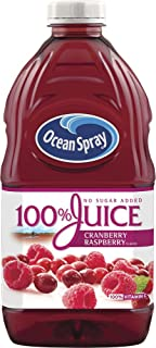 Ocean Spray 100% Juice, Cranberry Raspberry, 60 Ounce Bottle (Pack of 8)