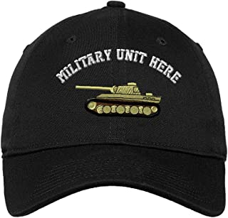 Custom LowProfileSoft Hat WWII Army Military Tank Embroidery Unit Cotton