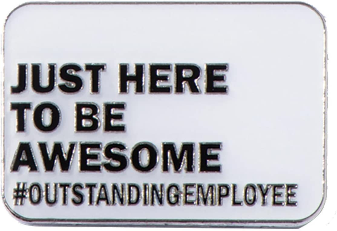 TCDesignerProducts Just Here to Be Awesome Outstanding Award Pins, 6 Pins