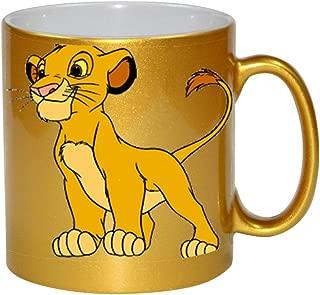 Cartoon Lion Cub Film Character 11 ounce Gold Ceramic Coffee Mug Tea Cup by Smarter Designs