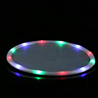 14 Inches LED Light Up Serving Tray for Food and Drinks at Parties and Events