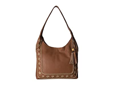 The Sak Huntley Hobo (Tobacco Floral Crochet) Tote Handbags