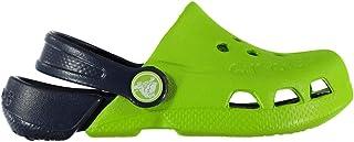 Official Brand Crocs Electro Clogs Infant Boys Green/Navy Sandals Flip Flops Thongs Beach Shoes