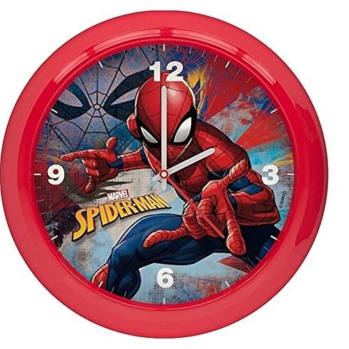 STAR LICENSING Wanduhr Spiderman Marvel cm. 25,5- 45452ROSSO