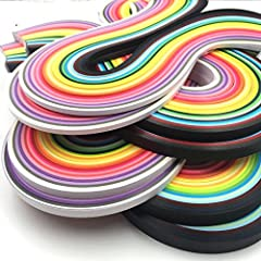 Package includes:3mm260 Stripes X2,5mm260 Stripes X2,7mm260 Stripes X2,10mm260 Stripes X2, totally 26 Colors 2080 Paper quilling strips ,8 Sets Strip length: 38 cm; Width: 3/ 5/ 7/ 10 mm Pretty and bright colors,you can create a satisfactory art work...