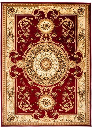 Carpeto Rugs Tapis Salon Rouge 160 x 220 cm Oriental/Iskander Collection