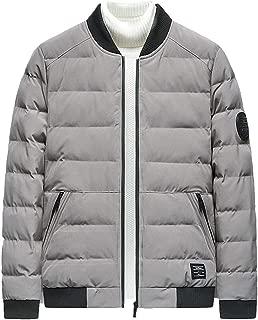 4XL 2019 Cotton Winter Coats for Men Fashion Zipper Casual Slim Comfort Light Jackets Tops Solid Warm Outwear